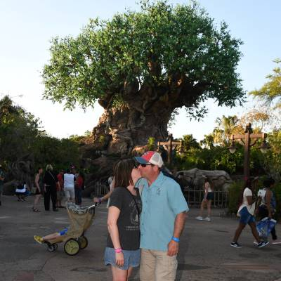 My hubby and I at the Tree of Life