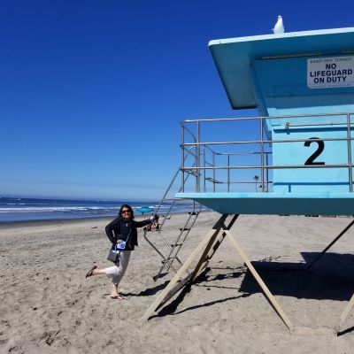 I try to spent at least one day at the beach during every trip to California