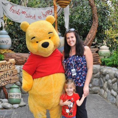 We got to meet Winnie the Pooh at Disneyland