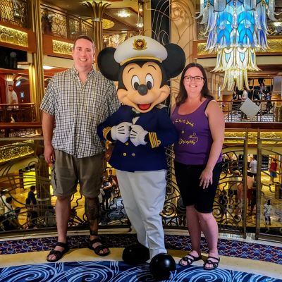 Meeting the captain on our cruise