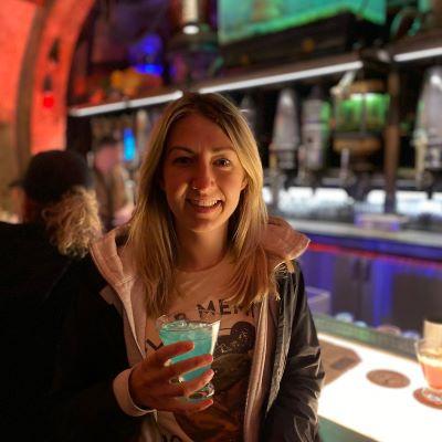 Enjoying a drink at Ogas Cantina at Star Wars Galaxy's Edge