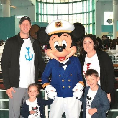 Hanging out with Captain Mickey before boarding the Disney Dream!