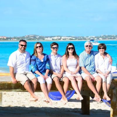 My extended family vacationing at Beaches Turks & Caicos