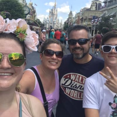 You always have to take a family selfie on Main Street!