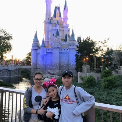 Always a must - taking a photo at Cinderella Castle at Magic Kingdom