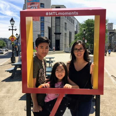 With my kids in Montreal