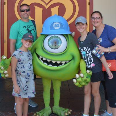 Meeting Mike Wazowski at Disney's California Adventure