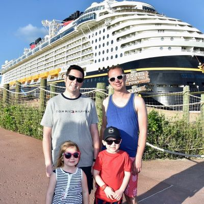 Our family at Disney's Castaway Cay private island in Bahamas