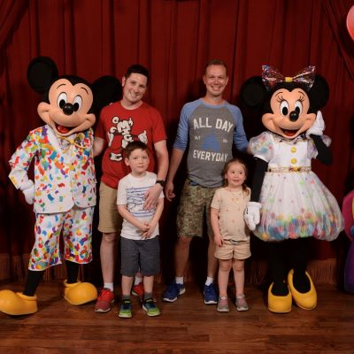We were able to visit  Mickey and Minnie when they were celebrating their 90th birhdays