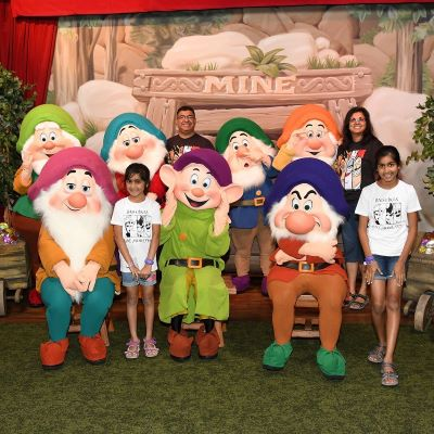 A fun photo opportunity with the 7 Dwarfs at Mickey's Not So Scary Halloween Party