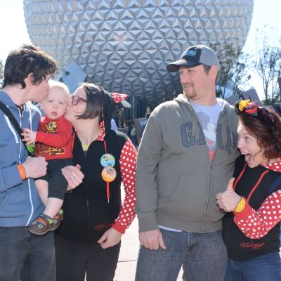 A fun family picture at Epcot