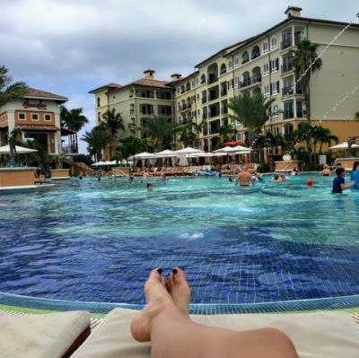 Nothing like laying poolside in paradise