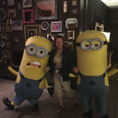 With the Minions at Universal Orlando