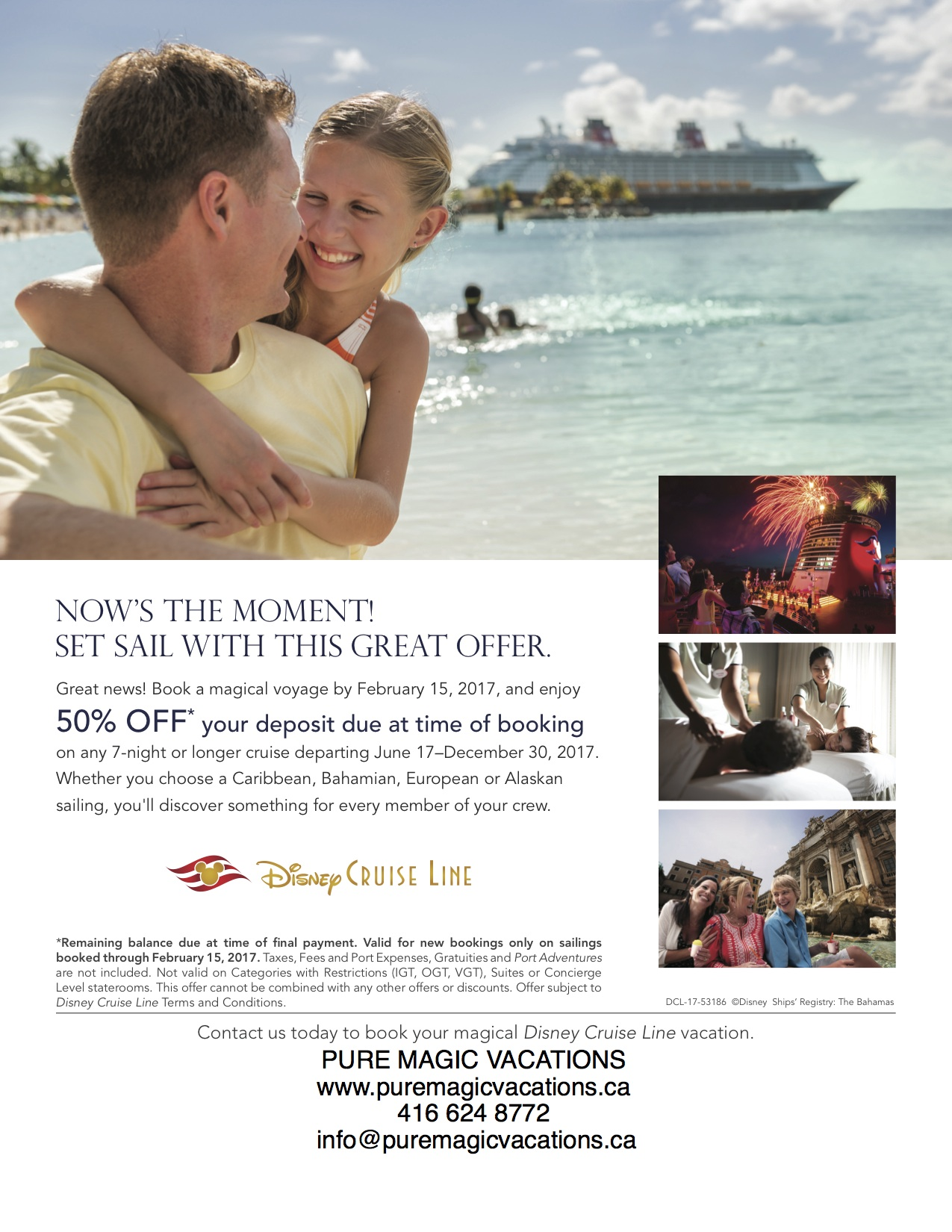 NOW'S THE MOMENT! SET SAIL WITH THIS GREAT OFFER!