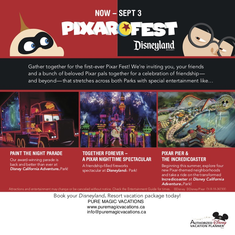 PIXAR FEST at Disneyland Resort!